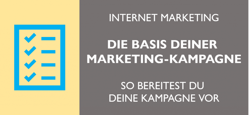Marketing Basis erstellen